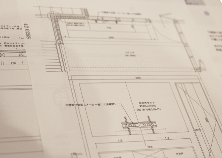 写真:設計図